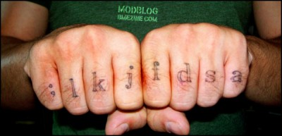 typing tattoo