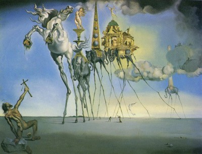 dali temptation of st anthony cutting