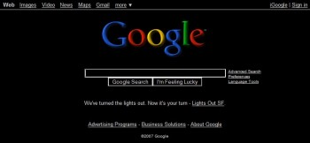 Google turns out the lights