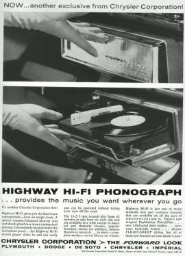 record player in car