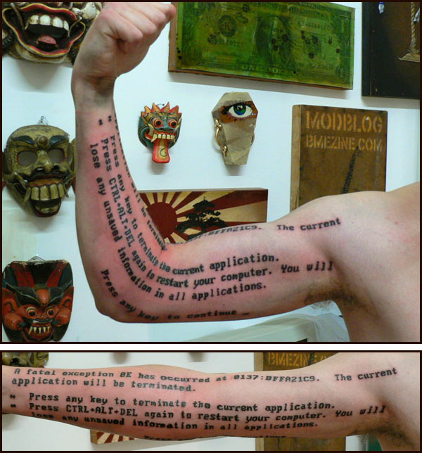 We recently posted some geeky video game tattoos, but in the