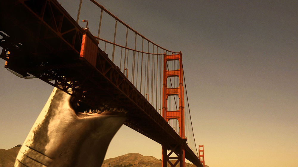 Mega Shark attacks the Golden Gate Bridge