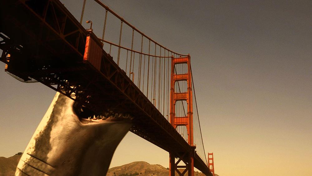 Mega Shark attacks the Golden Gate Bridge