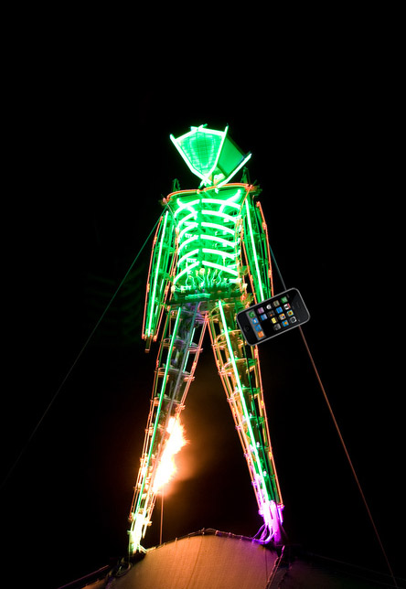 Burning Man Iphone