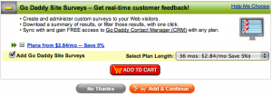 Customize - Go Daddy Site Surveys