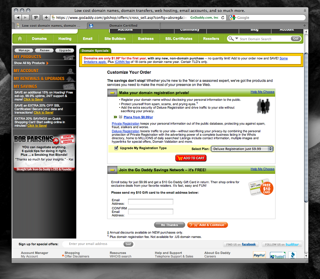 how registering a can cost almost info godaddy page05